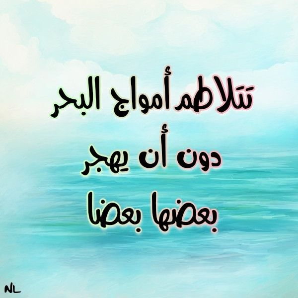 هدوء البحر كلمات من ذهب عن البحر