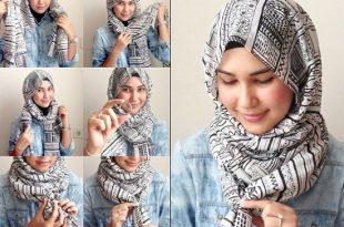 صورة كيفية وضع الحجاب , كيفيه ارتداء الحجاب بعده طرق بسيط