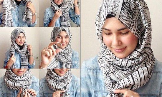 صور كيفية وضع الحجاب , كيفيه ارتداء الحجاب بعده طرق بسيط