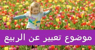موضوع تعبير عن الربيع , روائع الربيع في موضوع به كلمات معبره