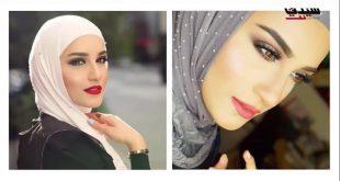 صورة لف الشيلة الكويتية بالصور , تعرفى علي اجمل لفة للطرح الكويتية الان