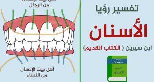 تفسير حلم الاسنان البيضاء جدا , رؤية الاسنان البيضاء في المنام