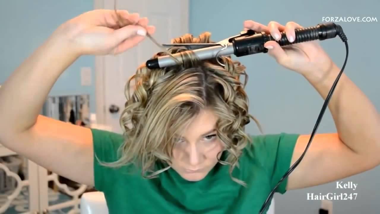 صورة طريقة عمل الشعر كيرلي للشعر القصير , في دقيقتين تحصلي علي شعر كيرلي