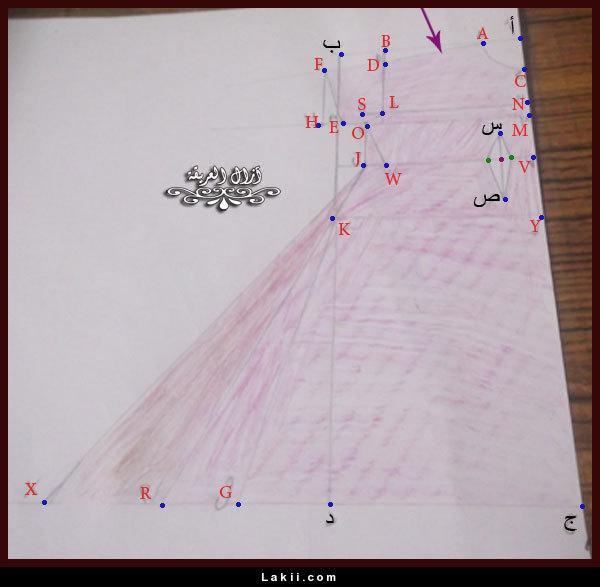 صورة فصلي احلي قندورة لك , طريقة تفصيل قندورة لارج