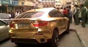 صورة اغلي سيارة في العالم , سيارة من ذهب